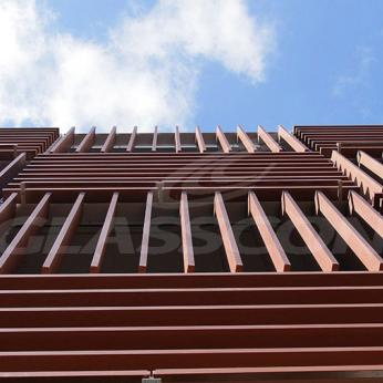 Leed Platinum certified office complex with second skin kinetic facade
